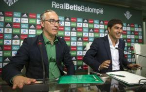 Miguel Torrecilla y �ngel Haro, durante una rueda de prensa reciente.