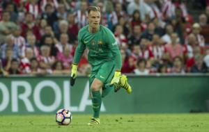 Marc-Andre Ter Stegen during the match against Athletic Bilbao.