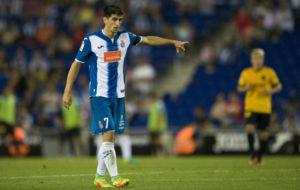 Gerard Moreno, durante el partido contra el M�laga.