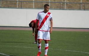 Christian Manrique, en un partido del Juvenil del Rayo Vallecano