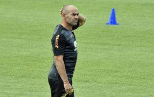 Paco J�mez, en su �ltimo entrenamiento con el Granada