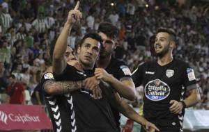 Joselu celebra en C�rdoba uno de los cinco goles que lleva marcados
