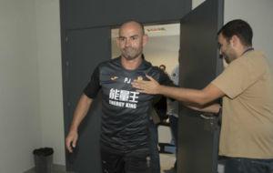 Paco J�mez tras despedirse hoy del Granada
