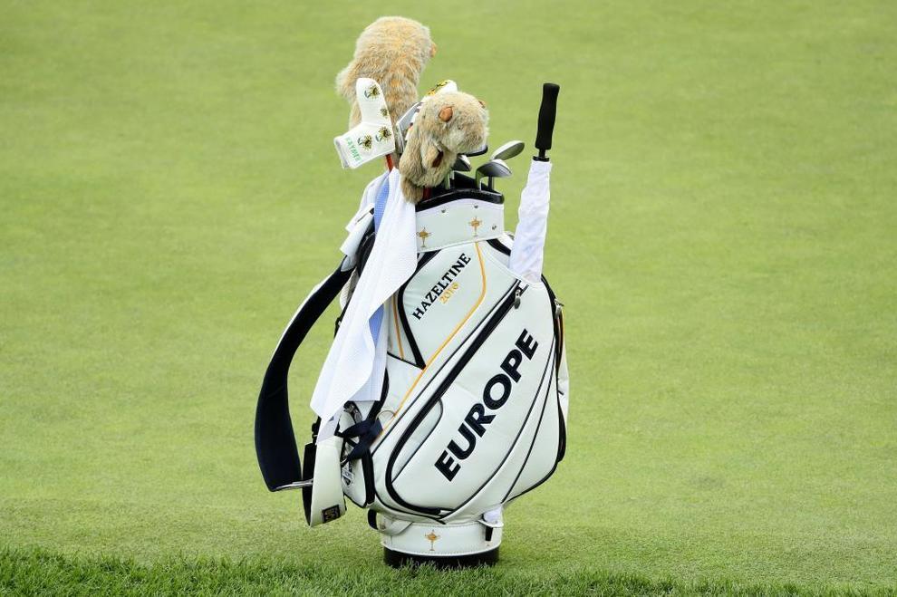 La bolsa que Martin Kaymer usó durante la previa de la Ryder Cup.