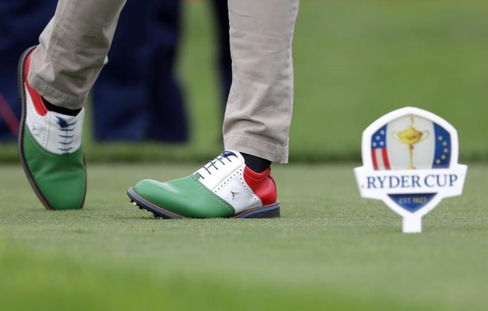 Los zapatos que escogió para la ocasión el italiano Alessandro Del...