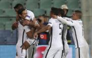 El PSG celebra un tanto ante el Ludogorets