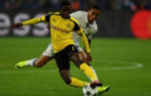 Ousmane Demb�l�, en el partido ante el Madrid.