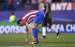 God�n, con molestias en el partido ante el Bayern.