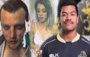 Montaje de TVNZ con dos de los agredidos y Losi Filipo
