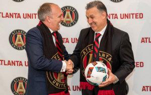 Martino en su presentaci�n como nuevo entrenador del Atlanta United.