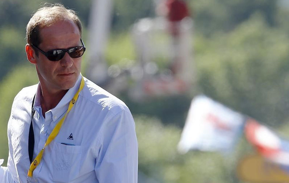 Christian Prudhomme during the third stage of this year's Tour.