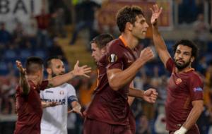 Fazio celebra su gol