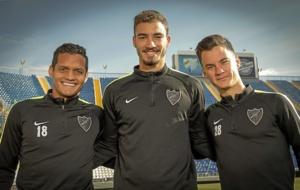 Rosales, Villanueva y Juanpi, los jugadores venezolanos del M�laga.