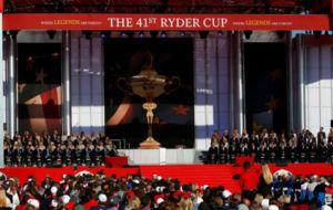Imagen de la ceremonia de inauguración de la Ryder 2016.