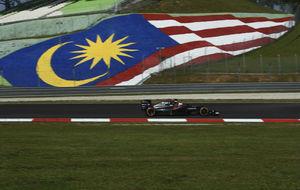 Alonso, durante los Libres 1 del Gran Premio de Malasia