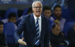 Claudio Ranieri during their Champions League match against Porto.