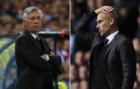 Ancelotti y Guardiola en el partido que rompieron la racha