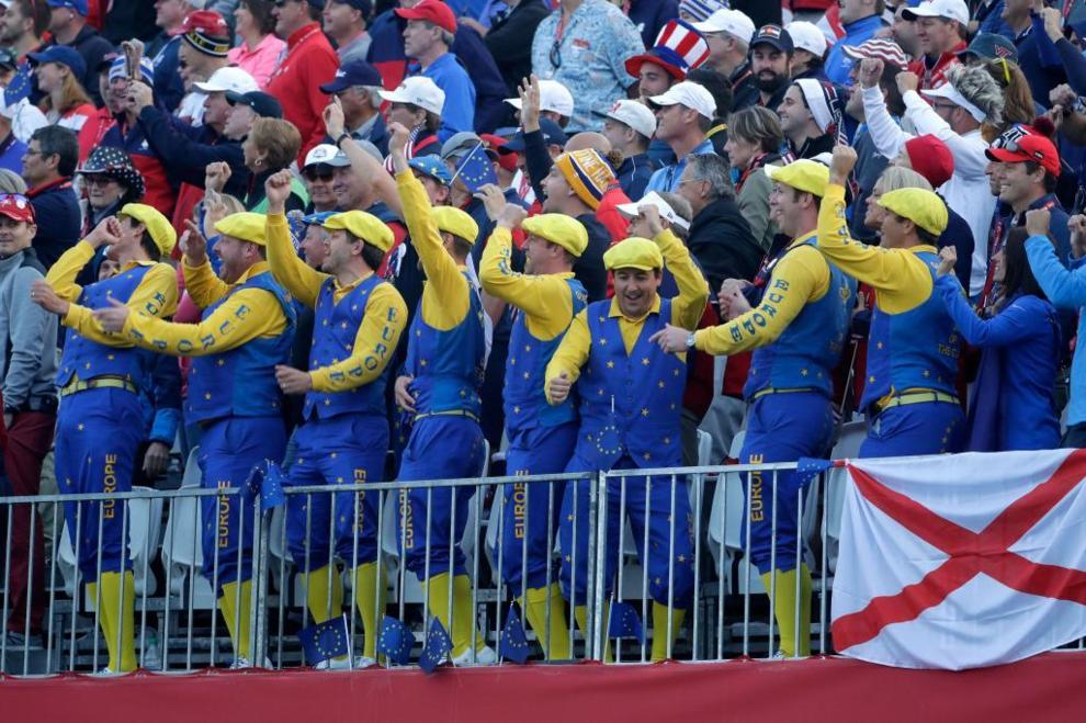 También el equipo europeo tiene sus aficionados 'locos'