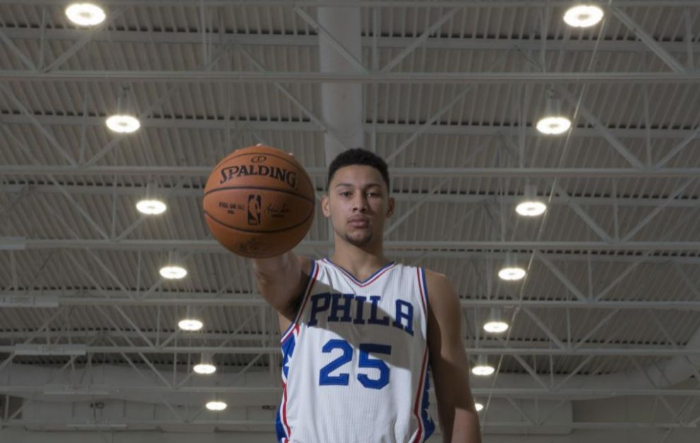 Ben Simmons, durante el media day de los Sixers.