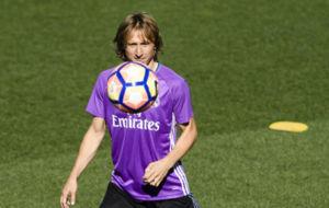Luka Modric en un entrenamiento