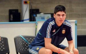 Matías, en el banquillo de la selección argentina durante el...