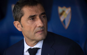 Valverde durante el partido ante el M�laga.