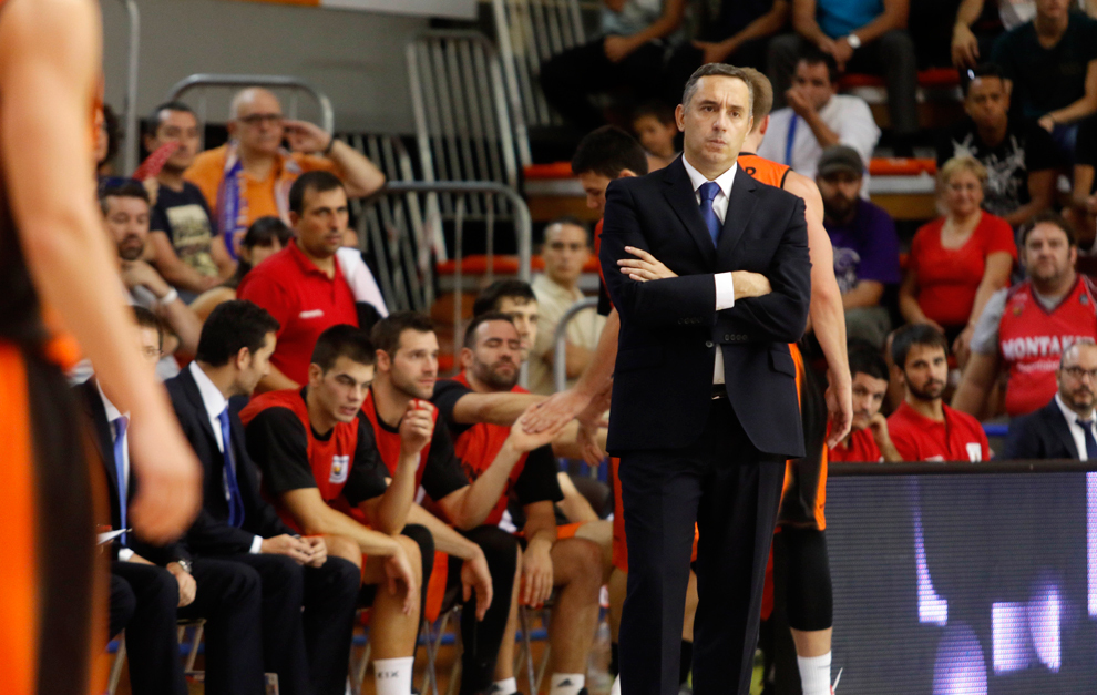 Jota Cuspinera durante el partido contra el Bilbao Basket