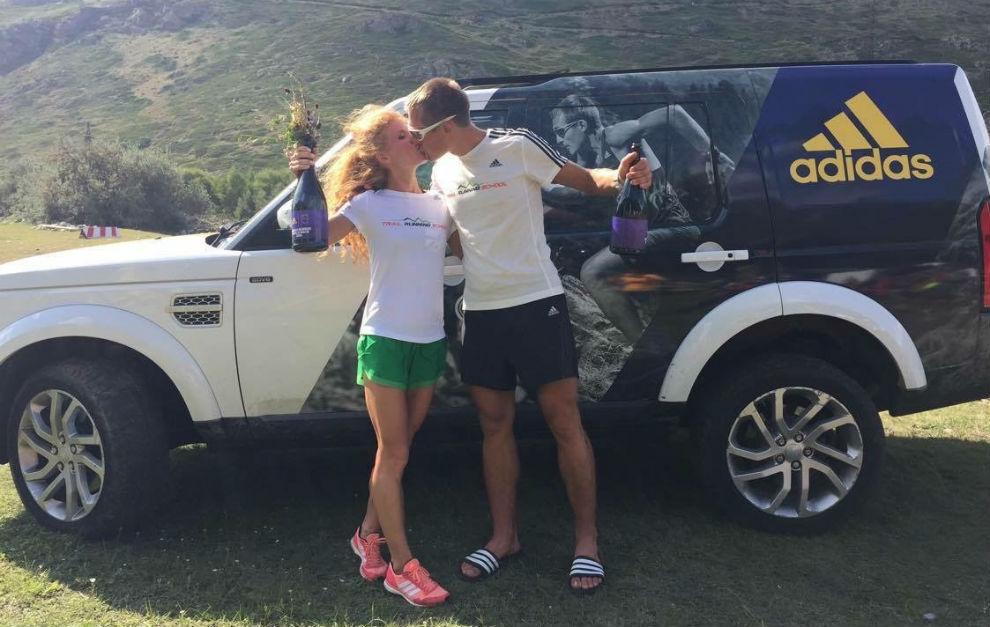 Ekaterina Mityaeva y Dmitry Mityaev, tras un entrenamiento.