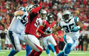 Partido entre los Carolina Panthers y los Atlanta Falcons