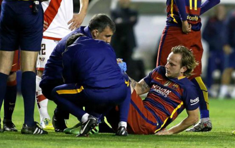 El Barça comunica la lesión de Rakitic un día después