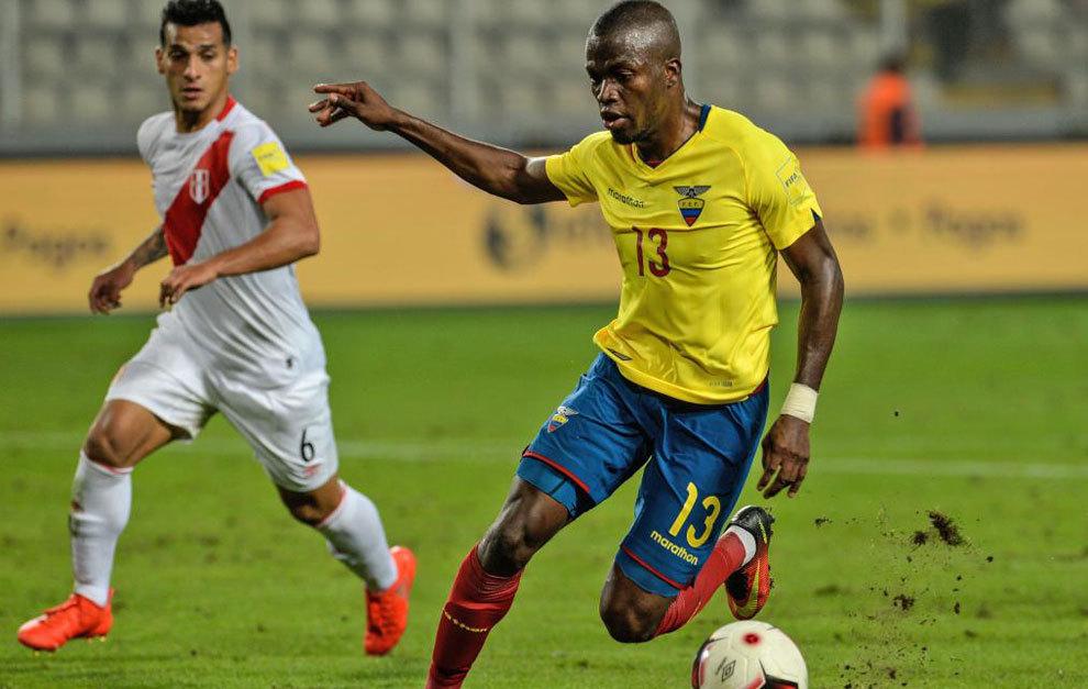Enner Valencia, con Ecuador.