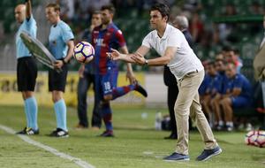 Alberto Toril durante un partido de la presente temporada