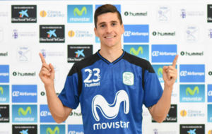 Ortiz posa con la camiseta del Movistar Inter.