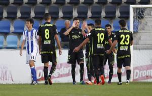 Los jugadores del Sporting celebran el segundo gol