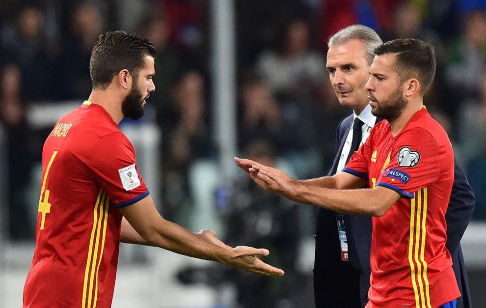 Jordi Alba es duda para el partido contra el City
