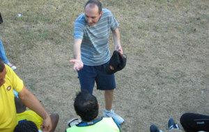Cantarero, en su etapa como entrenador del Chorrillo.