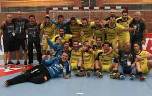 La plantilla del ABC Braga celebra el pase a la fase de grupos de la...