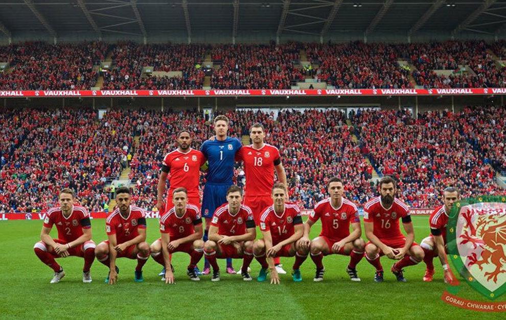 Gales forma antes del partido ante Georgia.