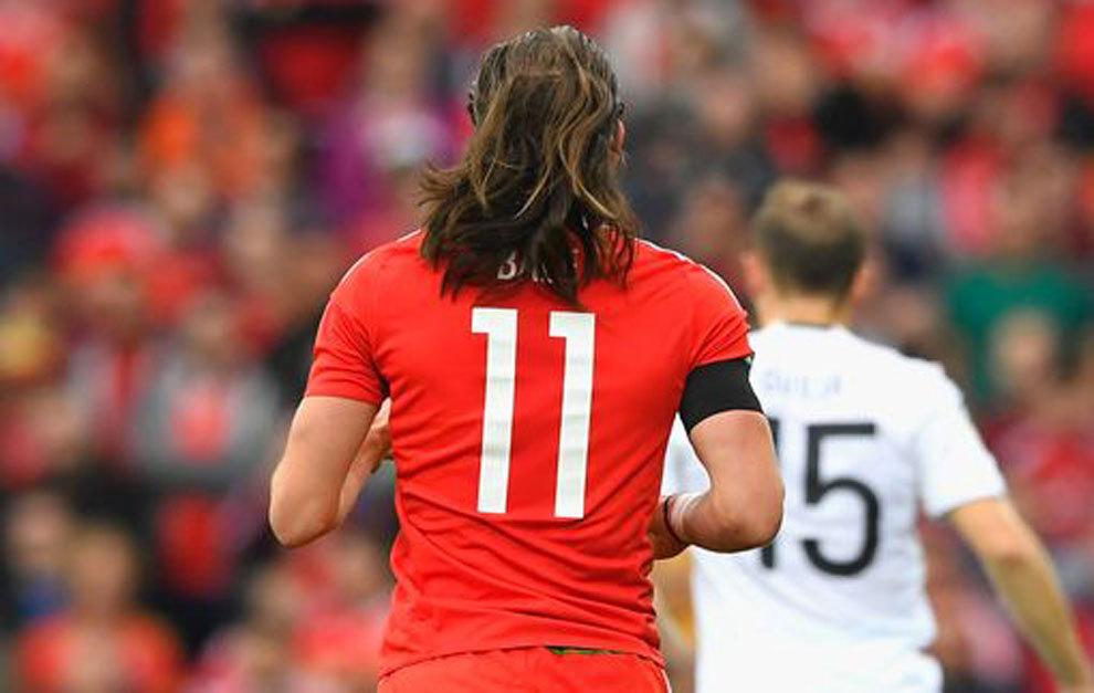 Bale, 'despeinado' en el partido ante Georgia.