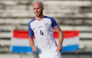 Michael Bradley, con la camiseta de Estados Unidos.