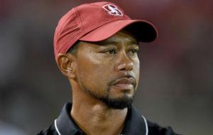 Tiger Woods, durante el partido de f�tbol universitario entre...