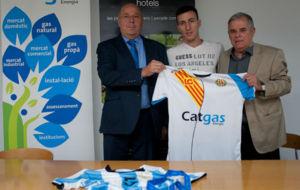Maxi Rescia, en su presentaci�n como jugador del Catgas Santa Coloma.