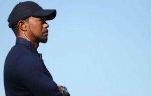 Tiger Woods, durante la pasada Ryder Cup, en la que ejerci� de...