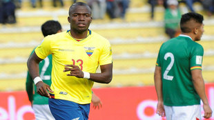 Enner Valencia, autor de un doblete ante Bolivia.