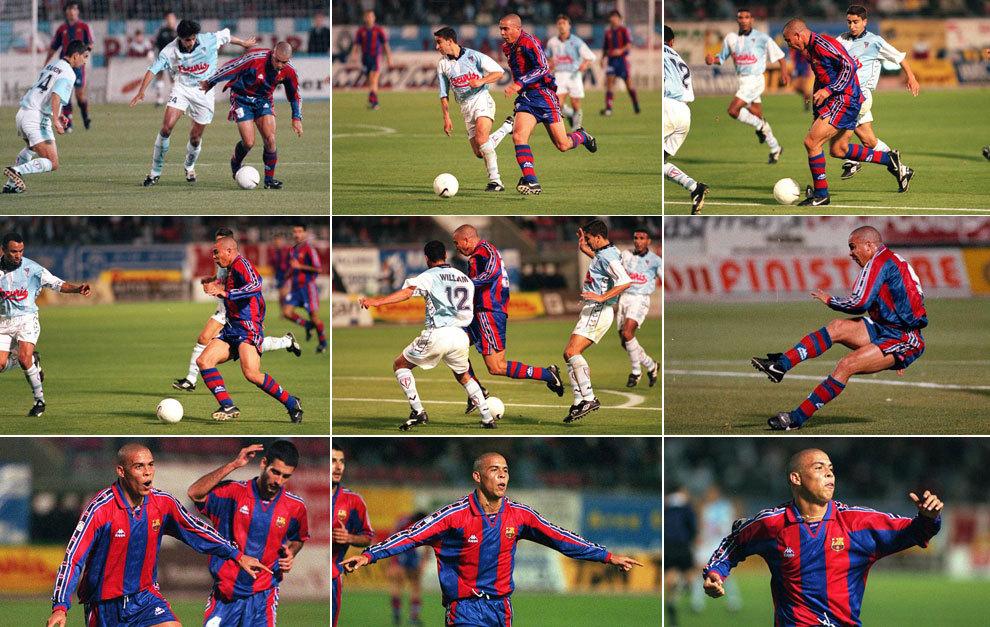 Resultado de imagen para Ronaldo gol a compostela