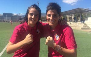 Roc�o G�lvez y Andreea Paraluta celebran la victoria del Atl�tico...