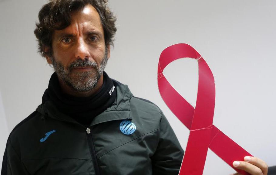 Quique Sánchez, técnico del Espanyol, participa en la campaña