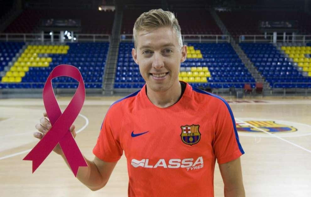Batería, jugador del Barcelona Lassa del Fútbol Sala