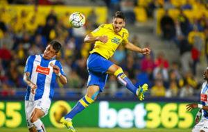 Imagen del partido entre Las Palmas y el Espanyol de la temporada...