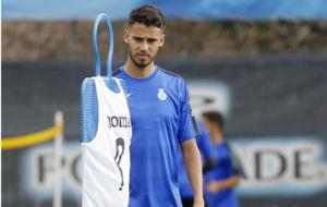 Diego Reyes se ejercita en la Ciudad Deportiva.